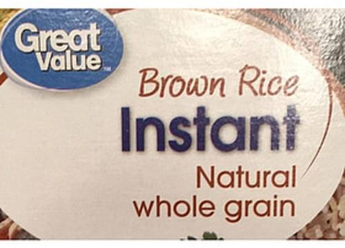 Great Value Instant Brown Rice - 50 g
