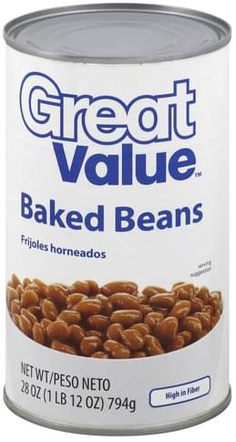 Great Value Baked Beans 28 Oz Nutrition Information Innit