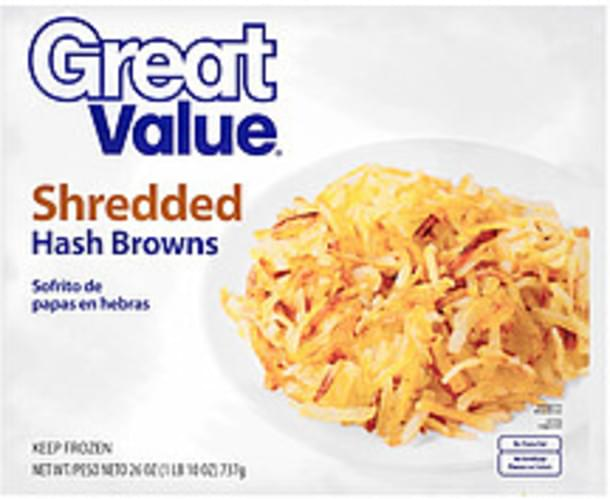 Great Value Shredded Hash Browns - 26 oz