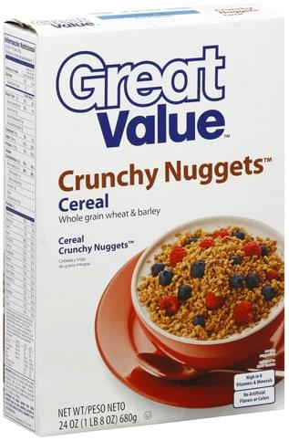 Great Value Crunchy Nuggets Cereal - 24 oz