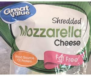 Great Value Mozzarella Cheese Shredded