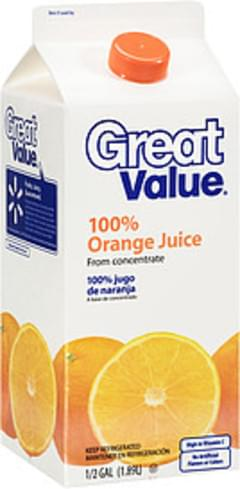 Great Value Juice from Concentrate 100% Orange