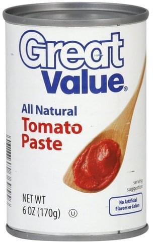 Great Value Tomato Paste - 6 oz
