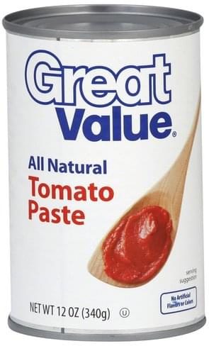 Great Value Tomato Paste - 12 oz