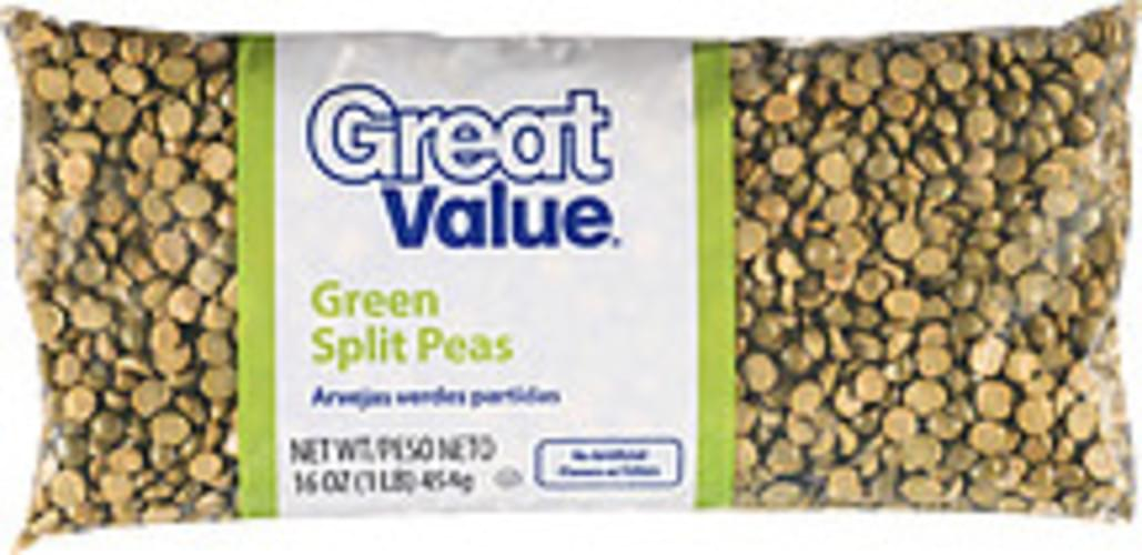 Great Value Green Split Peas - 16 oz
