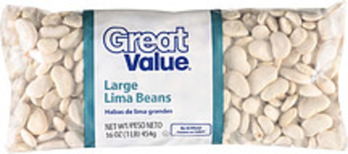 Great Value Large Lima Beans - 16 oz