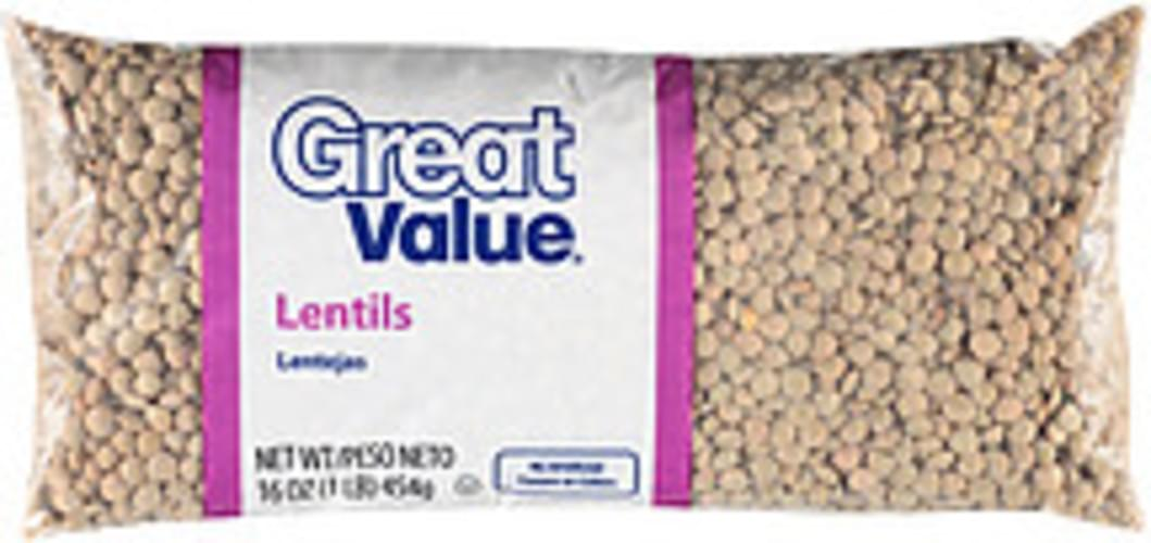 Great Value Lentils - 16 oz