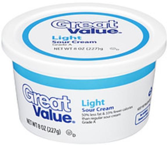 Great Value Light Sour Cream - 8 oz