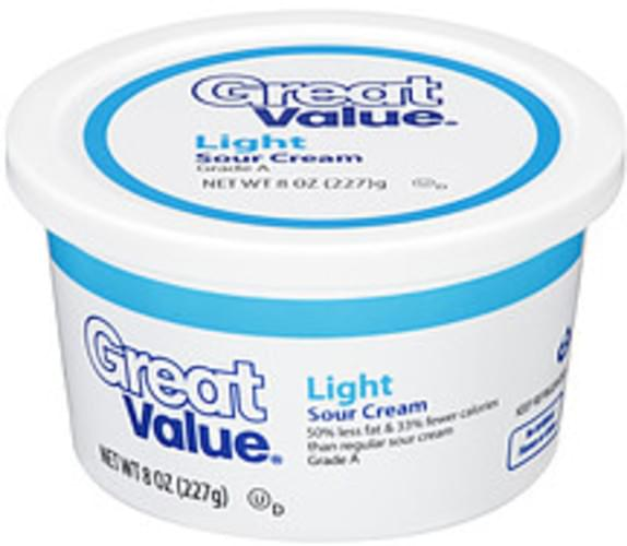 Great Value Light Sour Cream - 8 oz