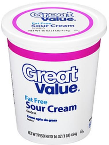 Great Value Light Sour Cream - 16 oz