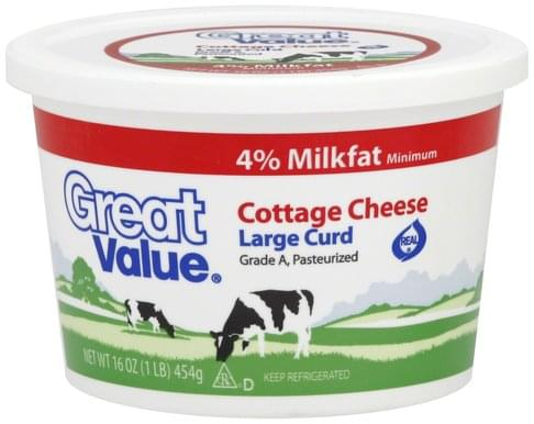 Stupendous Great Value Large Curd Cottage Cheese 16 Oz Nutrition Home Remodeling Inspirations Cosmcuboardxyz