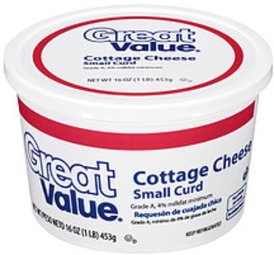 Amazing Great Value Small Curd Cottage Cheese 16 Oz Nutrition Home Remodeling Inspirations Cosmcuboardxyz