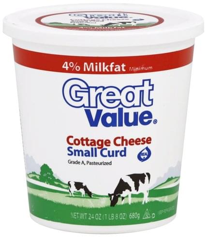 Magnificent Great Value Small Curd Cottage Cheese 24 Oz Nutrition Home Remodeling Inspirations Cosmcuboardxyz