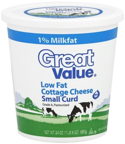 Swell Great Value Low Fat Small Curd Cottage Cheese 24 Oz Home Remodeling Inspirations Cosmcuboardxyz