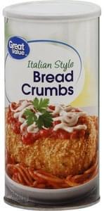 Great Value Bread Crumbs Italian Style