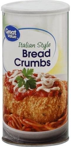 Great Value Italian Style Bread Crumbs - 15 oz