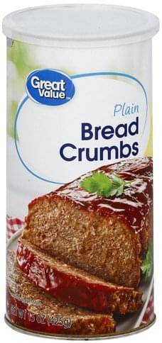 Great Value Plain Bread Crumbs - 15 oz