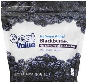Great Value Blackberries No Sugar Added