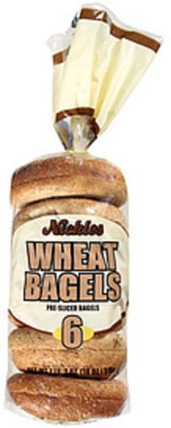 Nickles Wheat Bagels Pre-Sliced