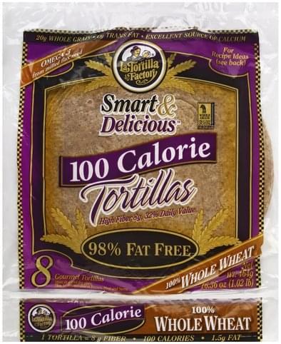 La Tortilla Factory Gourmet, 100 Calorie, 100% Whole Wheat Tortillas - 8 ea