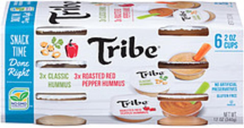Tribe Classic Hummus & Roasted Red Pepper Tribe Classic Hummus & Roasted Red Pepper Hummus Dip - 0