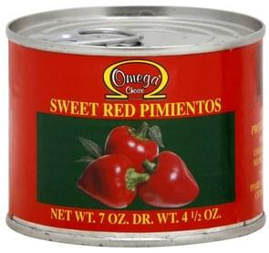 Omega Choice Sweet Red Pimientos