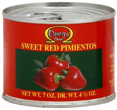 Omega Choice Sweet Red Pimientos - 4.5 oz