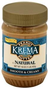 Krema Peanut Butter Smooth & Creamy