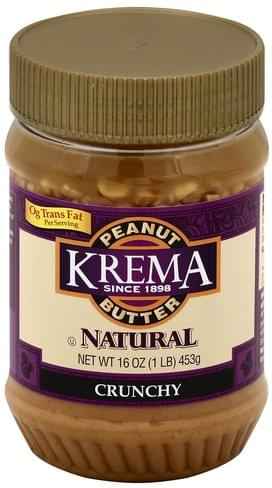 Krema Crunchy Peanut Butter - 16 oz