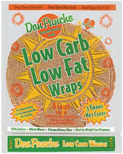 Don Pancho Low Carb Low Fat Whole Wheat Large 8 Ct Wraps - 17 oz