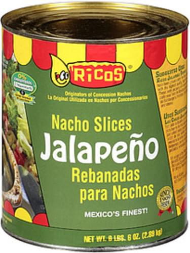 Ricos Nacho Slices Jalapeno - 102 oz