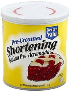 Better Valu Shortening Pre-Creamed