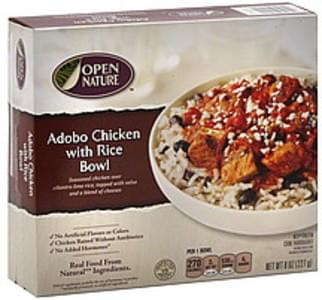Open Nature Adobo Chicken with Rice Bowl