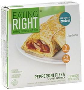 Eating Right Stuffed Sandwich Pepperoni Pizza