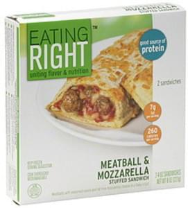 Eating Right Stuffed Sandwich Meatball & Mozzarella