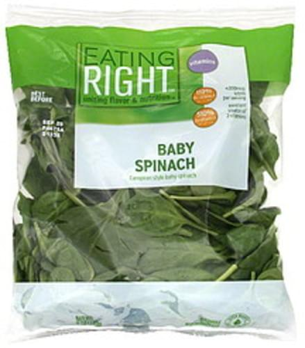 Eating Right Baby Spinach - 6 oz