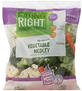 Eating Right Vegetable Medley Pre-Washed, Broccoli, Baby Carrots and Cauliflower