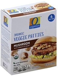 O Organics Patties Veggie, Organic, Mushroom