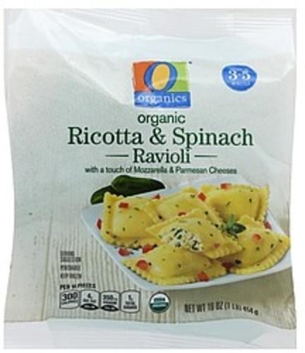 O Organics Organic, Ricotta & Spinach Ravioli - 16 oz