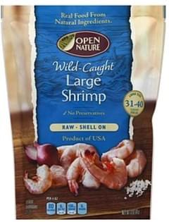 Open Nature Shrimp Raw, Wild-Caught, Shell On, Large