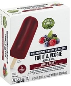 Open Nature Fruit & Veggie Juice Bars Mixed Berry