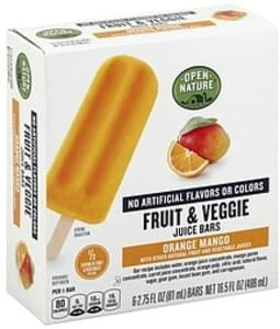 Open Nature Fruit & Veggie Juice Bars Orange Mango