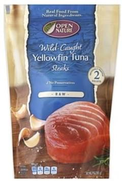Open Nature Yellowfin Tuna Steaks Wild Caught