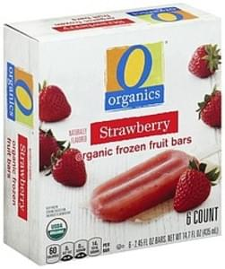 O Organics Frozen Fruit Bars Organic, Strawberry