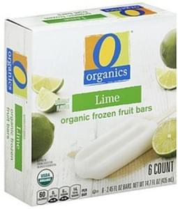 O Organics Frozen Fruit Bars Organic, Lime