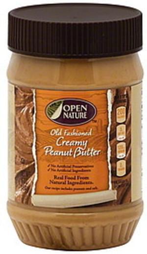 Open Nature Old Fashioned, Creamy Peanut Butter - 16 oz