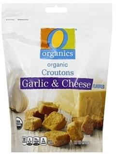 O Organics Croutons Organic, Garlic & Cheese Flavored