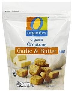 O Organics Croutons Organic, Garlic & Butter Flavored