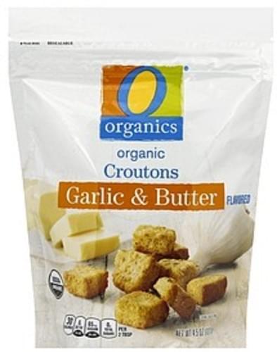 O Organics Organic, Garlic & Butter Flavored Croutons - 4.5 oz