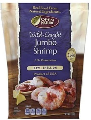 Open Nature Raw, Wild-Caught, Shell On, Jumbo Shrimp - 12 oz